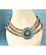 Multi-Strand Beaded Necklace Choker   - $49.28