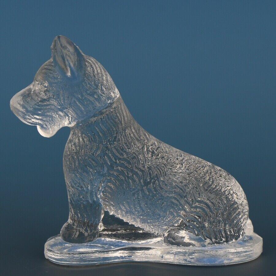 Vintage Smith Glass Miniature Crystal Dog Scottish Terrier