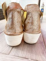 FLY London 40 9 9.5 pearl Perforated Leather Wedge Sandals Yake W Box Preowned image 6