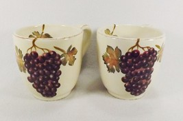 Tabletops Unlimited Villa Grande Set of 2 Extra Large Coffee Mugs Grapes... - $29.95