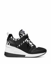 Michael Kors MK Women's Georgie Trainer Mesh Sneakers Shoes Zebra Print  - 7M image 2