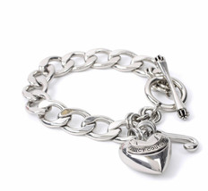 Juicy Couture Bracelet Classic Starter Puff Heart J Charms NEW - $37.62