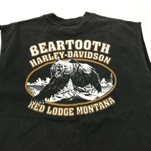 Harley Davidson Dragon Chemise sans Manche XL Beartooth Grizzly Rouge Lodge image 4