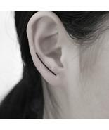 Jewelry, Simple Geometric Little U Shaped Double Sided Earrings Gold Plated - $3.99