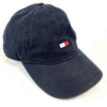 Tommy Hilfiger Blue Embroidered Box Logo Adjustable Ball Cap Hat Lid  - $24.98