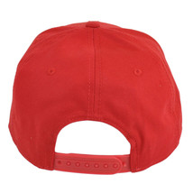 NEW LEVI'S MEN'S FLATBRIM WITH FELT EMBROIDERY BASEBALL SNAP BACK CAP HAT RED image 2