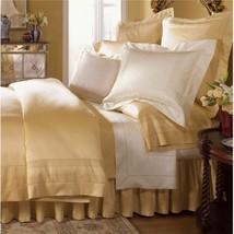 Sferra Capri Honey Queen Sheet Set Milos Border Egyptian Cotton 1020TC Italy NEW - $950.00