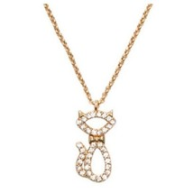 Kate Spade Jazz Things Up Pave Cat Mini Pendant Necklace Nwt - $38.00