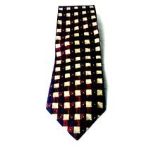 J.Z. Richards Nordstrom men's necktie blue red geometric square - $9.04