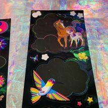 HTF Sticker Sheets Lisa Frank Dream Writers Yin Yang Unicorn 1isCOMPLETE &MINT-y image 5