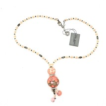 NECKLACE ANTICA MURRINA VENEZIA WITH MURANO GLASS ORANGE AND BEIGE CO964A25 image 1