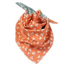 Infant Burp Cloths Toddle Baby Bibs Neat Solutions Double Layers Orange Set of 2