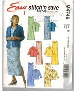 McCalls Easy Stitch 'n Save Uncut Pattern #M4749 Jacket Dress Size B 16 ... - $7.50