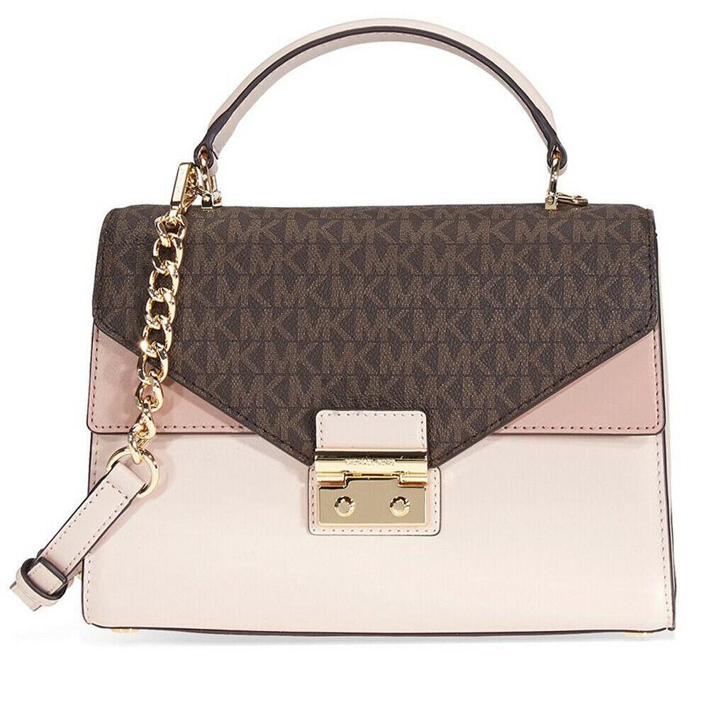 636ee8a75fa8cd H63 Michael Michael Kors Medium Pink Sloan Medium Top-Handle Satchel Handbag  - $187.60