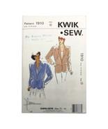 Kwik Sew 1910 Blazer Jacket 14 16 18 20 Pattern Uncut - $16.99