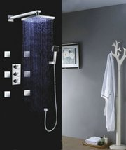 "Luxury 10"" Water Power LED Shower Head Rainfall Thermostatic 6 Massage Jets Spra - $791.95"