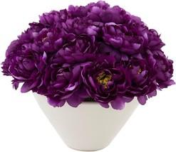 Planter JOHN-RICHARD Peonies Flowers Bowl Aubergine French - €407,45 EUR