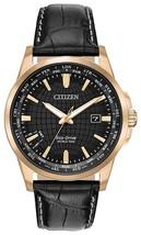 Citizen World Time Black Dial Leather Strap Men's Watch BX10030-8E image 1