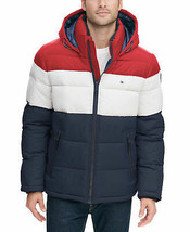 Tommy Hilfiger Men's Heavyweight Hooded Puffer Fleece Jacket New w/o Tags Size L