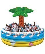 Palm Tree Inflatable Vinyl Cooler  - £18.17 GBP