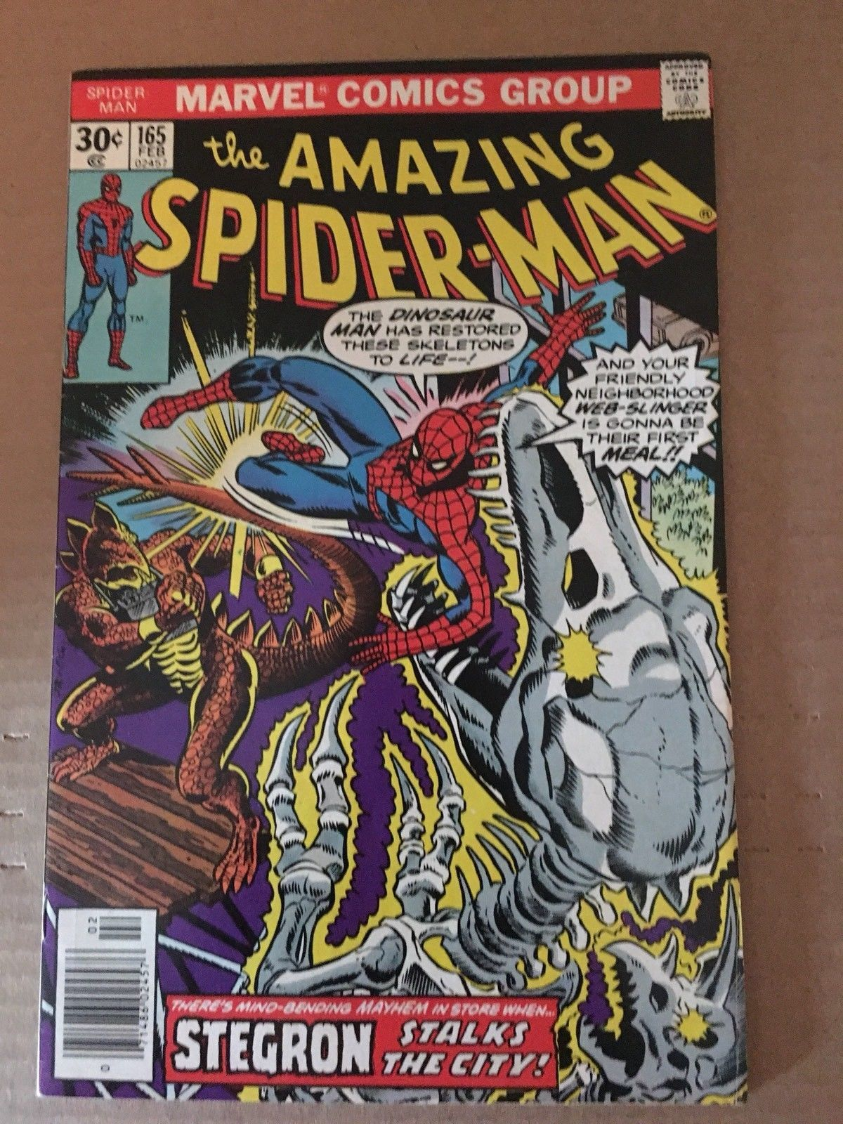 Amazing Spider-Man 165 Marvel Comic Book 1977 FN Condition Stegron