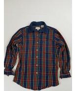 Riders Womens Shirt Long Sleeve Multi-Color Plaid Corduroy 100% Cotton S... - $20.56