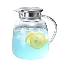 WarmCrystal, Large Glass Cold Teakettle, Pitcher and Carafe for Tea, Cof... - $29.72