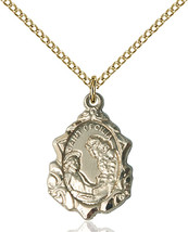 14K Gold Filled St. Cecilia Pendant 3/4 X 1/2 inch with 18 inch Chain - $108.05