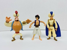 Vintage Disney Mattel Figure lot Of 3 1992 Aladdin Figures - $6.70