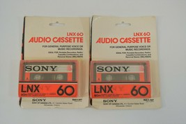 Sony LNX-60 Audio Cassette Lot of 2 For Voice or Music Recordings Japan ... - $19.34