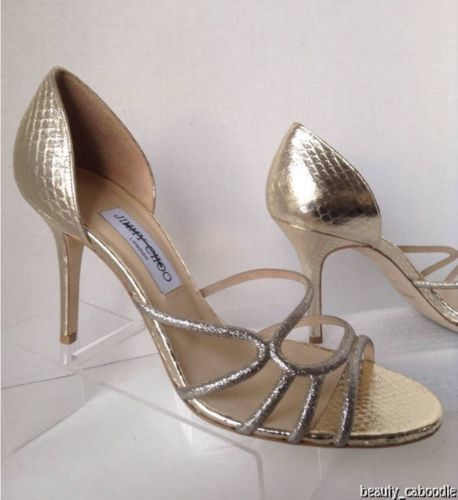 NEW Authentic JIMMY CHOO Straits D'Orsay Gold Sandals (Size 40.5) - MSRP $795.00 image 7