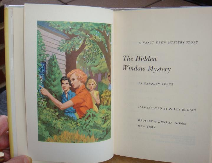 Nancy Drew 34 The Hidden Window Mystery CAMEO edition Polly Bolian illustrator