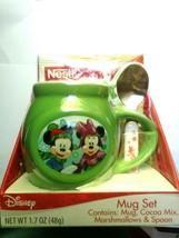 New Mickey & Minnie Mouse Green Coffee / Hot Cocoa Mug Stirring Spoon - $9.89