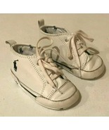 Ralph Lauren Polo Baby Shoes Booties Size 3 Sneakers White Lace Up Boy Girl - $11.99