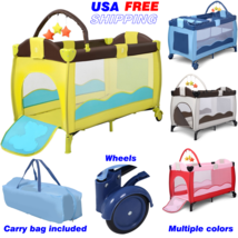 Baby Crib Infant Foldable Bed Portable Bassinet Newborn Playpen Nursery ... - $103.50+