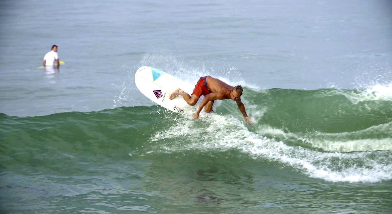 5'6 Mini Simmons Surfboard - White/PU - Paragon Surfboards