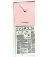 DIE ZEIT GERMAN 1980s NEWSPAPER Dollhouse 1:12 Scale Miniature Ronald Re... - $29.00