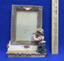 Boyds Bears Bearstone The Masterpiece Picture Frame w/ Light Museum Photograph - $14.84