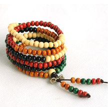 Free Shipping -  Tibetan Buddhism Colorful sandalwood meditation yoga 216 Beads  - $19.99