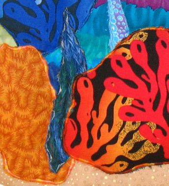 Seascape: Quilted Art Wall Hanging