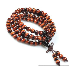 Free Shipping - Tibetan Buddhism 7 mm natural Red Tiger Eye 108 Beads meditation - $29.99