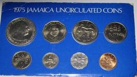 Jamaica 1975 8-Coin Gem Unc Mint Issued Set~RARE~4,683 Minted~FreeShipping - $30.09