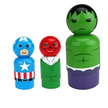 Bif Bang Pow! Marvel Classic Set of 3 Captain America, Red Skull, Hulk  - $12.86