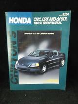 1984-1995 Honda Civic CRX Del Sol Chilton Repair Manual 8256 - $12.50