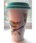 Lenox Travel Coffee Cup Mug CHIRP Thermal Double Wall 12 Ounce - $16.95