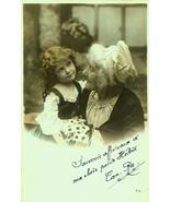 P019-GRANDMOTHER Child-Daisies EDWARDIAN Photo Postcard - $9.99