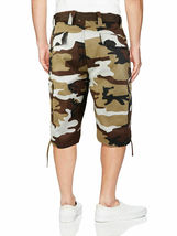 Men's Tactical Military Army Camo Camouflage Slim Fit Cargo Shorts With Belt image 6