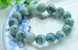 Free Shipping -  dark green jadeite bracelet ,  Grade AAA Natural Green ... - $30.00