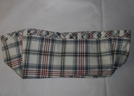 LONGABERGER BASKET FABRIC LINER ONLY PLAID 1994 EASTER JW SERIES WHITE R... - $14.03