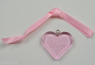 Longaberger 2006 Horizon Of Hope Basket Tie-On Collectible Home Decor Pink Heart